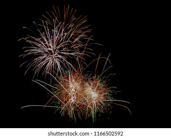 Firework exploding in the sky 3
