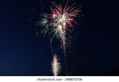 firework explosion on dark night sky