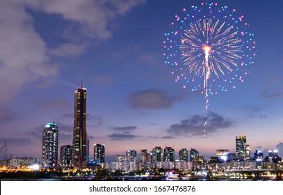Firework Festival in Seoul South Korea