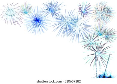 Firework isolated on a white background