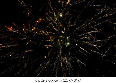 firework lights on black background