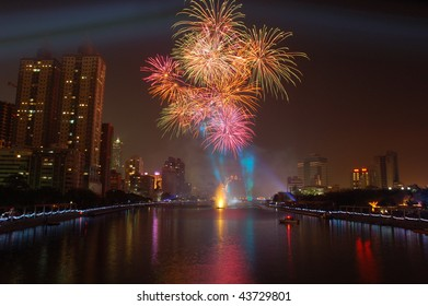 Firework at Love River, Kaohsiung
