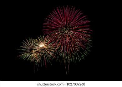 firework on black isolate