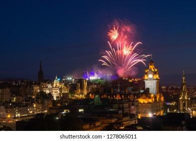 Firework over Edinburg Castle