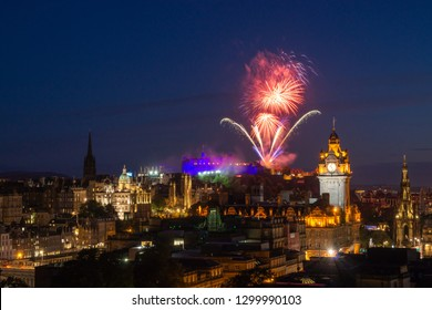 Firework over Edinburg Castle