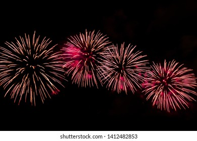 Firework at Pattaya Thailand in the Pattaya International Firework Festival 2019