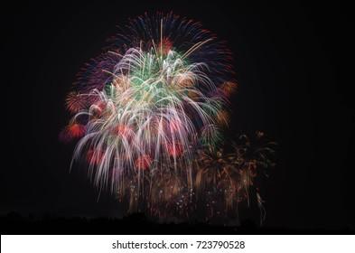 firework in Saitamaprefecture