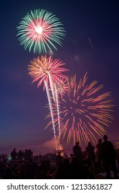 Fireworks for 4th of July in Superior, Wisconsin on the Shores of Lake Superior