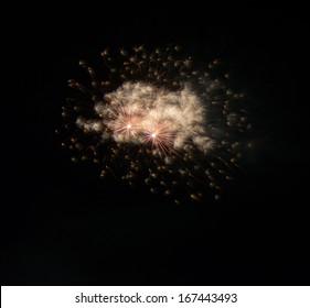 Fireworks Against a Black Sky.