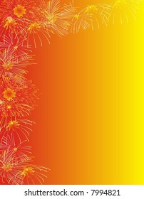 Fireworks background for christmas and new year.