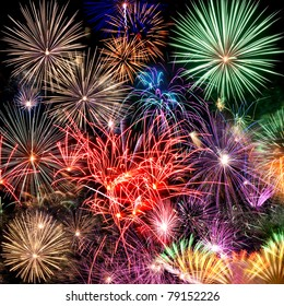 Fireworks Beautiful fireworks background for new year and other celebrations