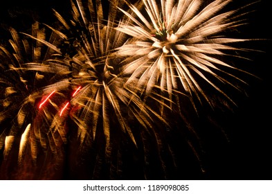 Fireworks - Beautiful trails in the night sky