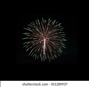 Fireworks in a black background