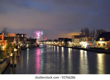 Fireworks in Boskoop, The Netherlands