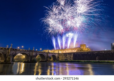 Fireworks at Castel Sant'Angelo in Rome