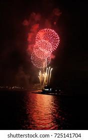 Fireworks at city lake