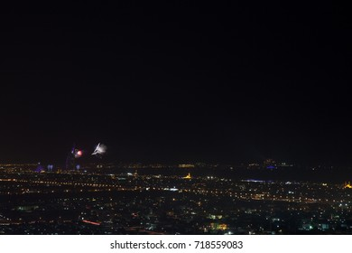 fireworks in the city. New Year in Dubai