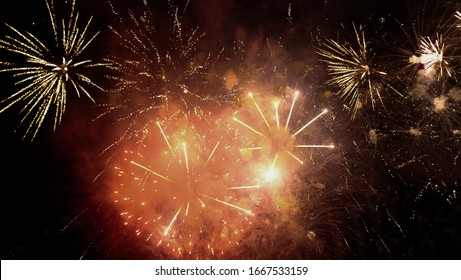 Fireworks are a class of low explosive pyrotechnic devices used for aesthetic and entertainment purposes.