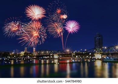 Fireworks countdown celebration