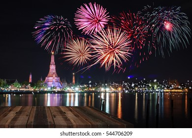 Fireworks countdown new year celebration