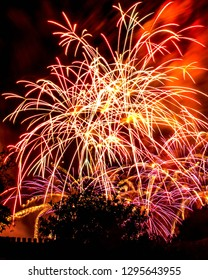 Fireworks at Disneyland in Anaheim, California