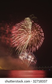 Fireworks display at a 4th of July celebrating in Newport, RI (http://www.artistovision.com/celebrations/red-fireworkds.html)