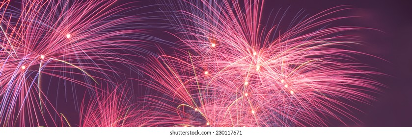 fireworks display at evening in china