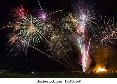 Fireworks Display. Guy Fawkes Night  (Bonfire Night) is a celebration in England on the 5th of November. It celebrates the foiling of the Gunpowder Plot of the 5th of November, 1605.