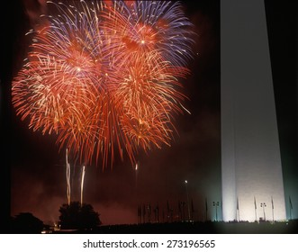 Fireworks display at the National Monument, Washington DC