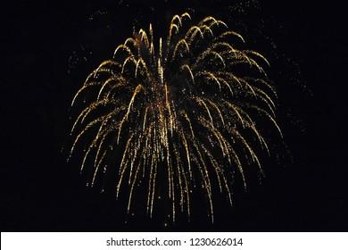 Fireworks Display, Rottingdean, East Susse - Shutterstock ID 1230626014