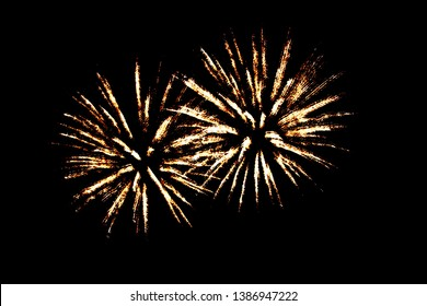 Fireworks display in the summer.
