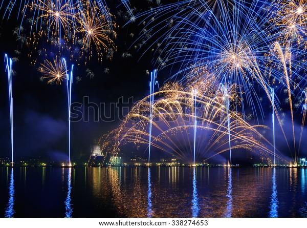 Fireworks display in Venice