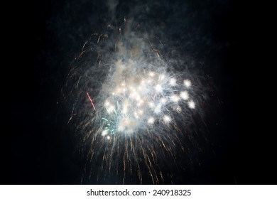 Fireworks explosion isolated on a black background