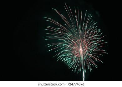 fireworks festival in Atami , Izu, Japan.