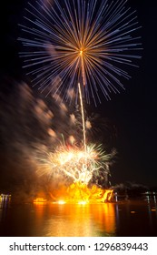 Fireworks, the festival of fire boats in Nakhon Phanom, is held every year on Buddhist Lent Day.