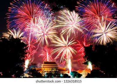 Fireworks Festival in Taoist Temple, Tainan, Taiwan