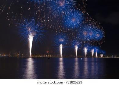 Fireworks in Florianopolis.