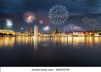 Fireworks in Hamburg