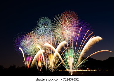 Fireworks in Japan.