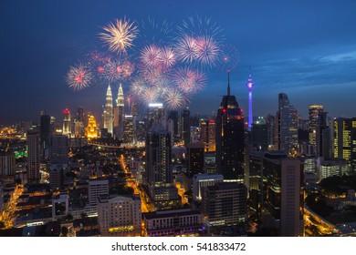 Fireworks Kuala Lumpur, Malaysia