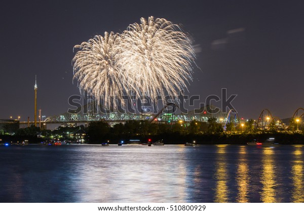 Fireworks at La Ronde, Montreal-Canada