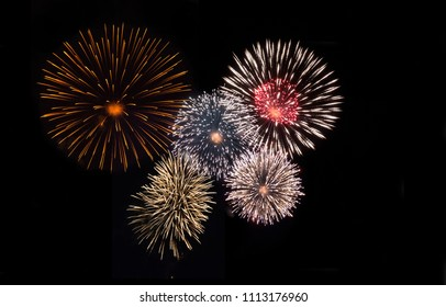 Fireworks light up at the sky