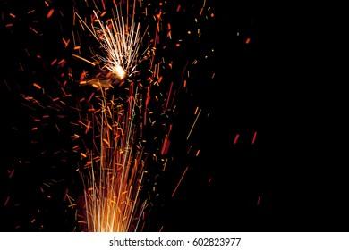 fireworks lighting the night sky