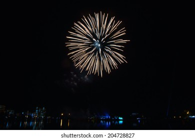 fireworks lighting the night sky in different colors