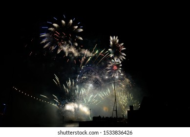 Fireworks in London UK for new years eve