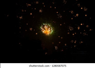 Fireworks in Mexico celebrating the new year