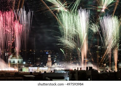 Fireworks, Mexico's Independence Day