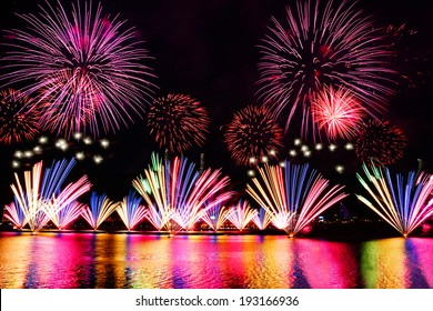 fireworks near the river