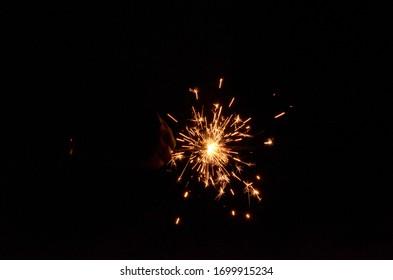 Fireworks in New Year Festival Celebration light background