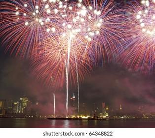 Fireworks in New York City
